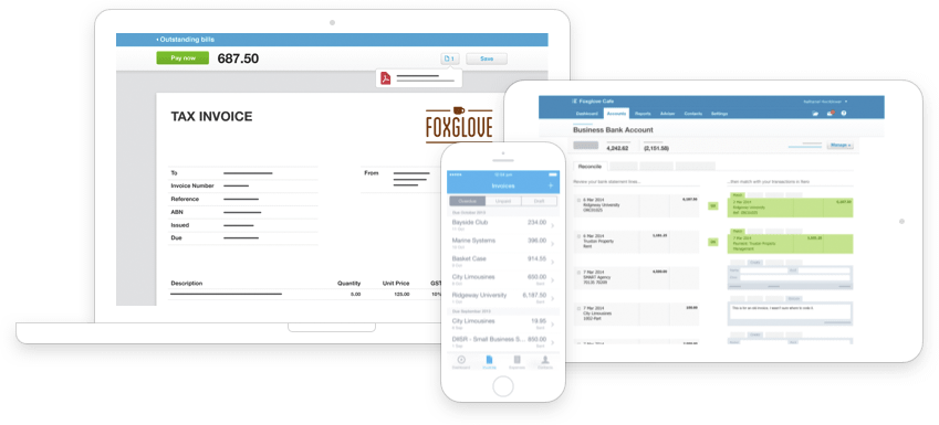Log in online anytime, anywhere on your Mac, PC, tablet or phone to get a real-time view of your cashflow. It's small business accounting software that's simple, smart and occasionally magical.